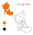 Coloring book fox kids layout for game vector image vector image