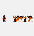 conceptual running crowd and vector image vector image