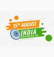 creative indian independence day background vector image vector image