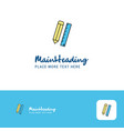 creative pencil and scale logo design flat color vector image