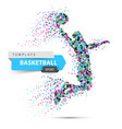 dot basketball basketball player vector image vector image