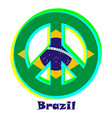 flag of brazil as a sign of pacifism vector image