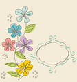 floral greeting card postcard vector image