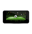 football match - soccer game on mobile phone vector image vector image