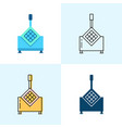 french fry cutter icon set in flat and line styles vector image