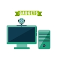 gadget tech design vector image