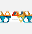 geometric background circles and triangles shapes vector image vector image