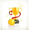 Gold Award icon vector image vector image