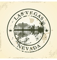Grunge rubber stamp with Las Vegas Nevada vector image