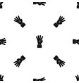 hand showing number four pattern seamless black vector image vector image