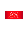 happy new year 2018 red ribbon vector image vector image