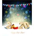 holiday christmas background with 2020 and a red vector image vector image