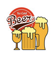 ice cold beer emblem vector image