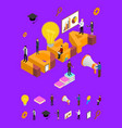 idea concept and elements part isometric view vector image vector image