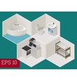 interior room isometric vector image