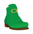 irish elf shoe vector image vector image
