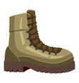 Khaki boot icon cartoon style vector image vector image