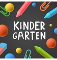 Kindergarten preschool background vector image