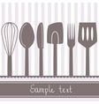 kitchen spoon banner vector image