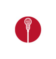 Lacrosse Stick Circle Icon vector image vector image