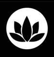 lotus icon design vector image
