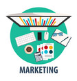 marketing flat design marketing vector image
