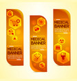 medical science orange vertical banners set vector image vector image
