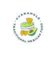 mexican restaurant logo guacamole and nachos vector image vector image