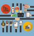 oil business management modern concept design flat vector image