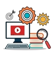 online learning isolated icon design vector image