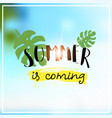 palm summer coming blurred sea bokeh beach vector image vector image