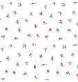 pattern little men shoppers on a white vector image vector image