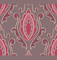 pattern with damask vector image