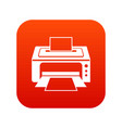 printer icon digital red vector image vector image