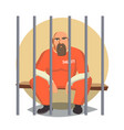 prisoner in jail gangsta man arrested and vector image