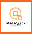 quick piece - letter q logo vector image vector image