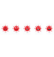 red coronavirus monster set vector image
