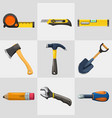 repair cute tools set isolated on white vector image vector image