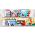 Rescue Service Colorful Horizontal Banners vector image vector image