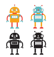 robots set color and black versions vector image vector image