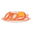 salami sausage icon vector image