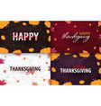 set of autumn backgrounds with pumpkin vector image