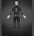 skeleton or death costume for halloween party vector image