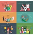 Soccer Mini Poster Set vector image vector image