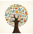 Social media icons tree vector image vector image
