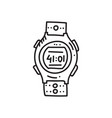 sport watch vector image vector image