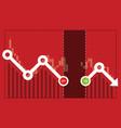 stock market circuit breakers function concept vector image vector image