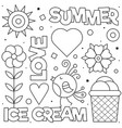 summer love coloring page black and white vector image vector image