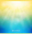 summer season sunlight with bokeh in the sky vector image vector image