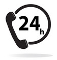 telephone service 24 hours on white background vector image vector image